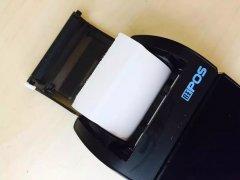 POS机收银机打印纸不清晰(使用过程